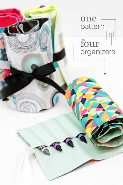 One Pattern Four Organizers - Free Sewing Pattern   Costura ...