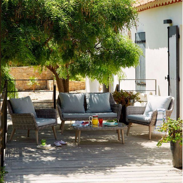 Un salon de jardin en rotin, Alinéa | Salons, Outdoor living and ...
