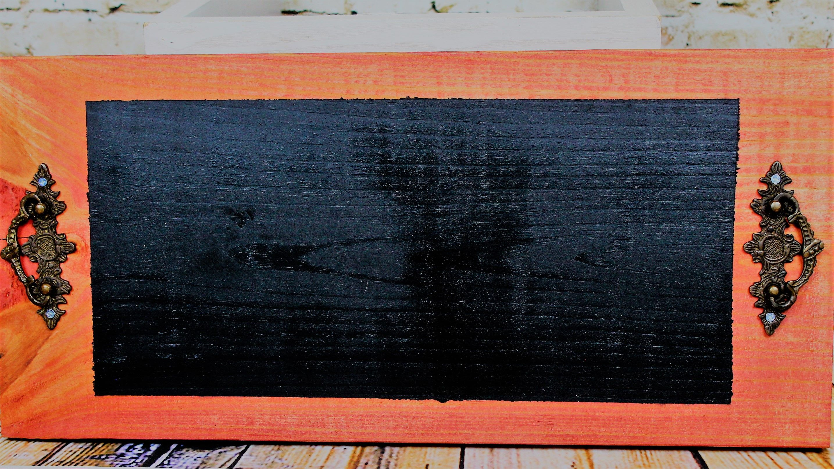 Sedona Red Chalkboard Tray