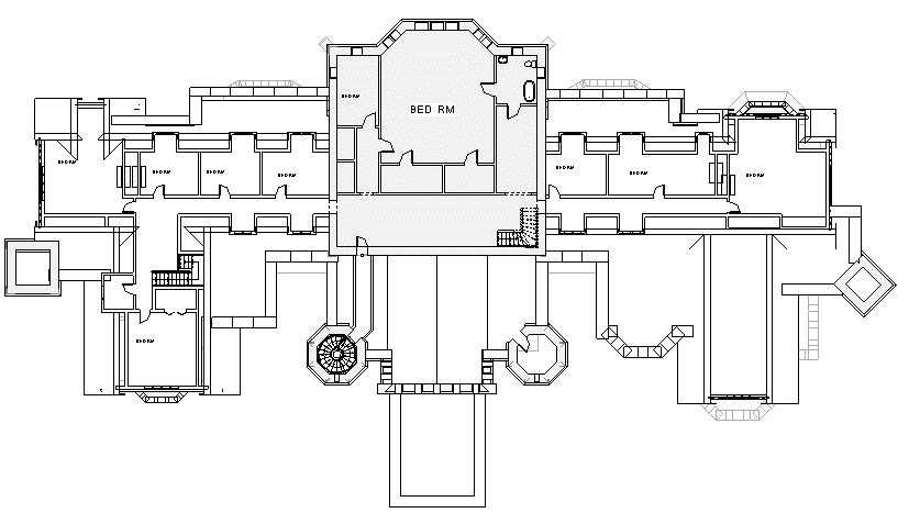 Level Three Architectural Floor Plans Castle Floor Plan Mansion Floor Plan