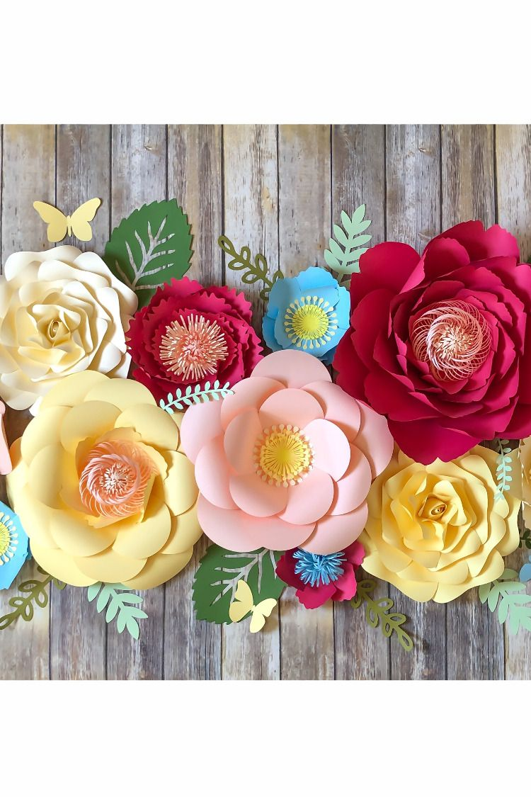 Pin On Paper Flower Decor Ivacrafts