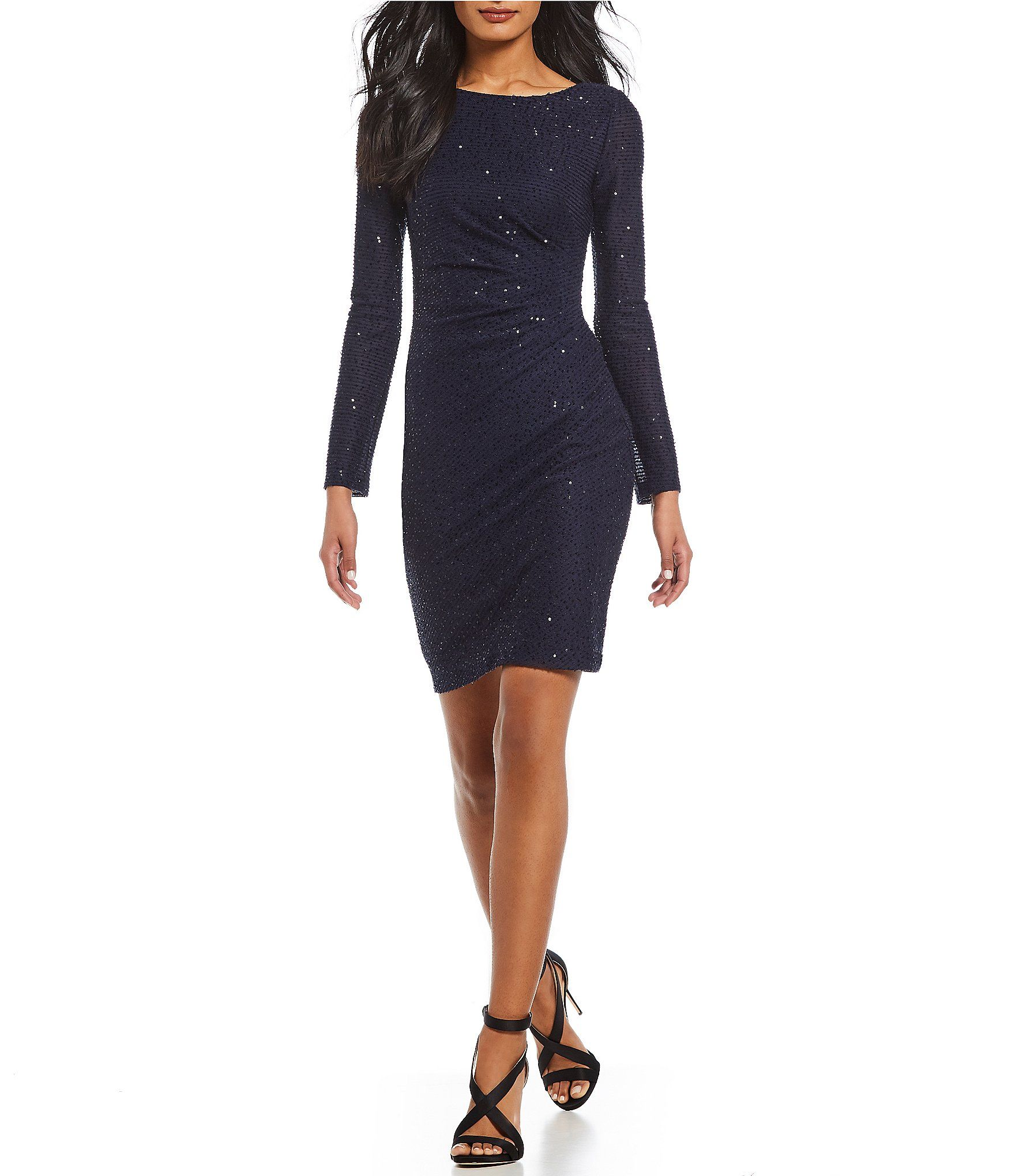 Shop For Vince Camuto Sequin Knit Ruched Sheath Dress At Dillards Com Visit Dillards Com To Find Clothing Accessories Sho Dresses Sheath Dress Bodycon Dress [ 2040 x 1760 Pixel ]
