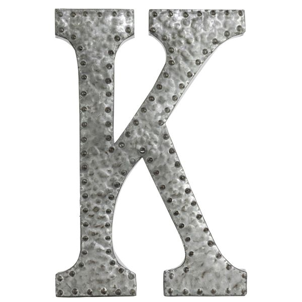 Urban Trends Collection Zinc Metal (Grey) Letter K Wall Decor (Metal ...