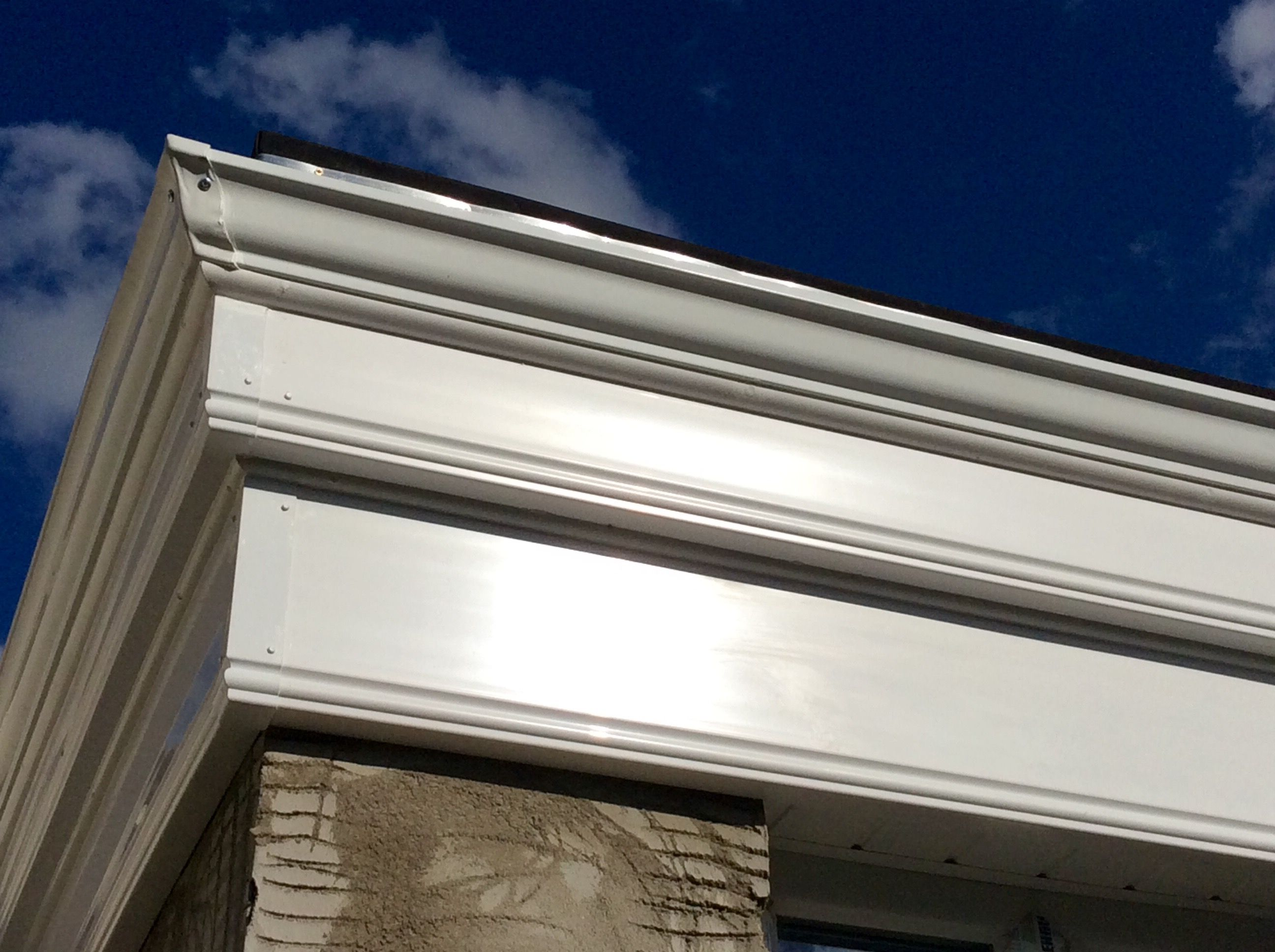 Fascia Board Seamless Gutters With Pvc Fascia Boards On A Orangery Style