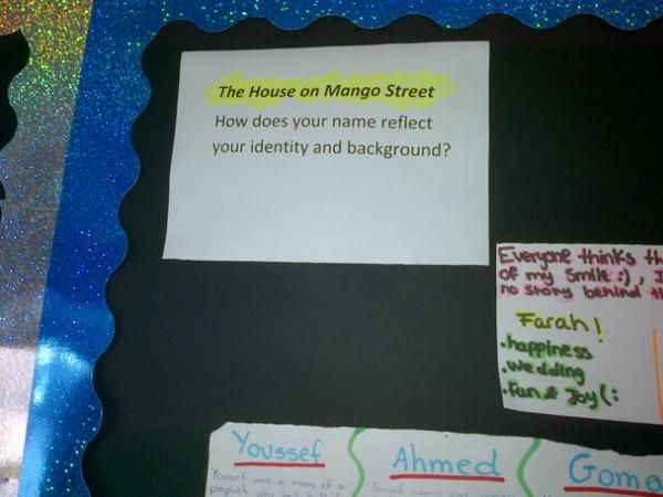 Pre Reading Task For House On Mango Street Discover Connections With Their Own Names The House On Mango Street Reading Workshop English Teacher High School