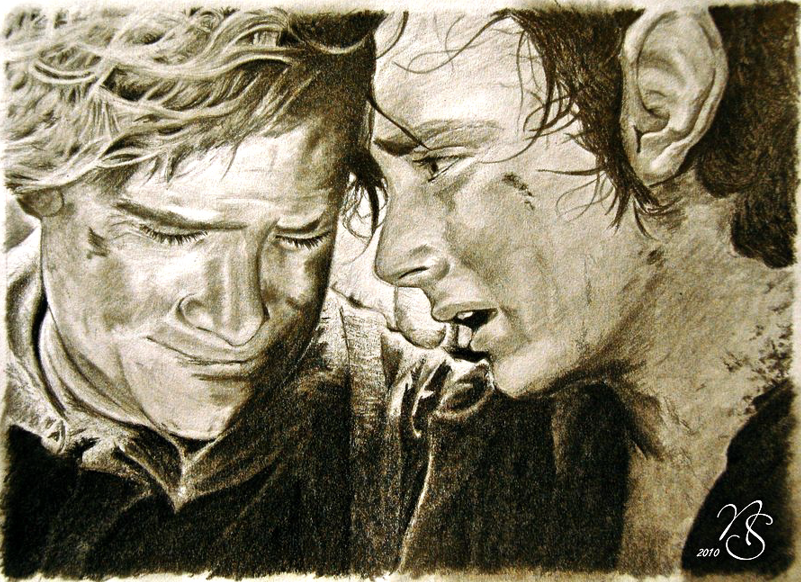 Frodo and Sam, Lord of the Rings Fan Art | Lord of the rings ...