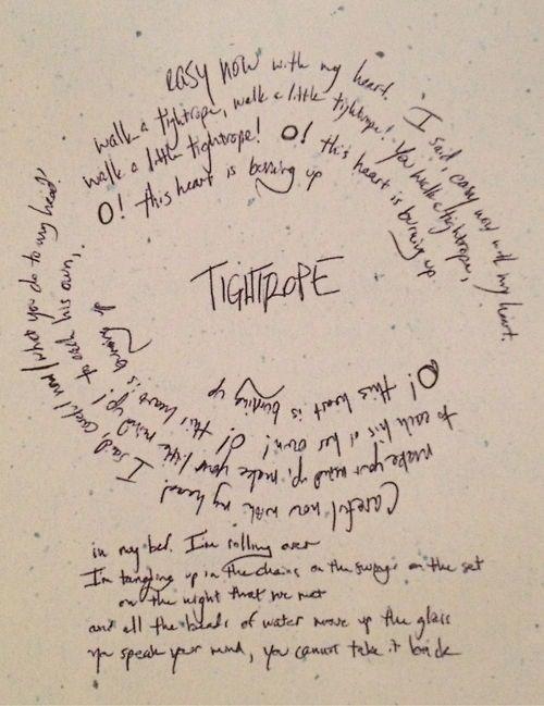 Tightrope lyrics