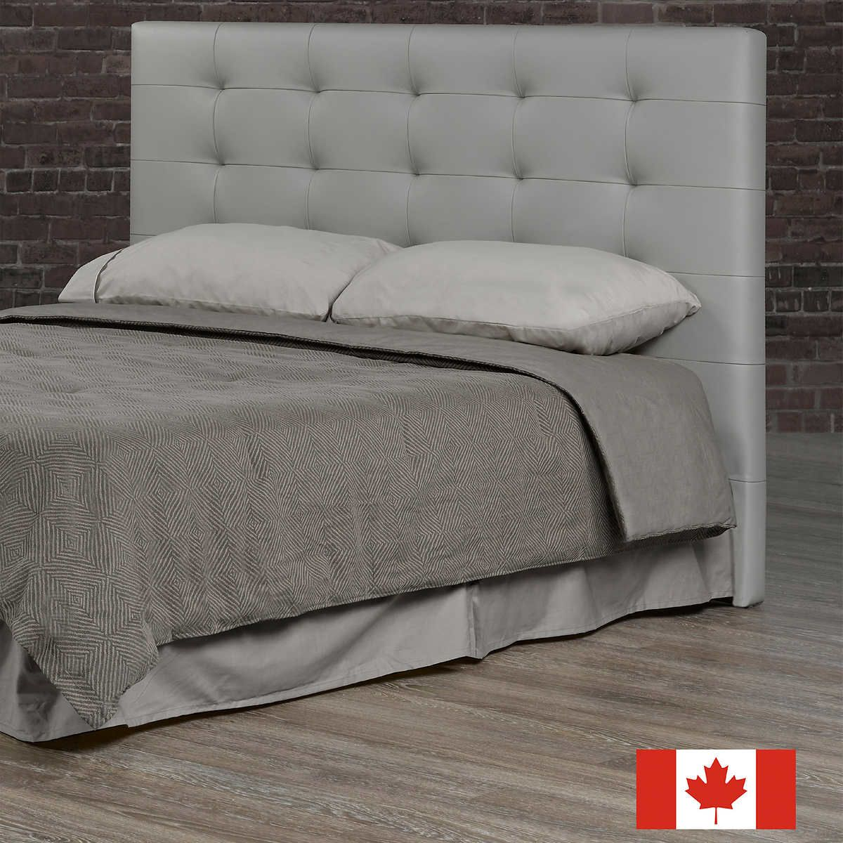 Abigail Top Grain Leather Headboard (With images