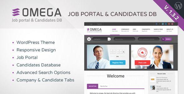 Free Omega Job Portal Candidate Database WordPress Theme ver 1.3.2 ...