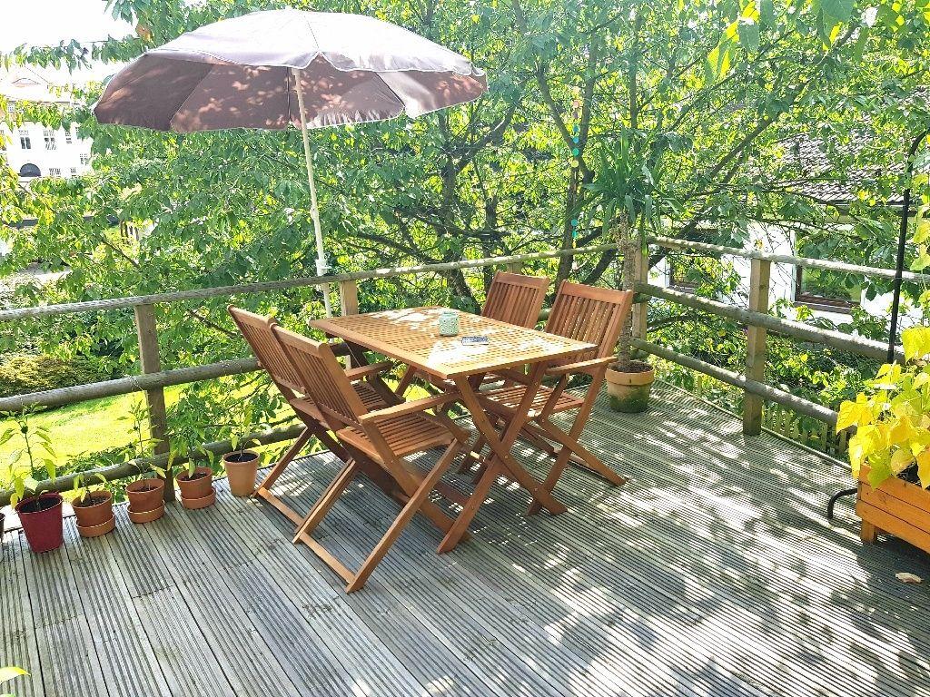 Grüne Dachterrasse schöne dachterrasse mit blick ins grüne hamburg balkon und garten