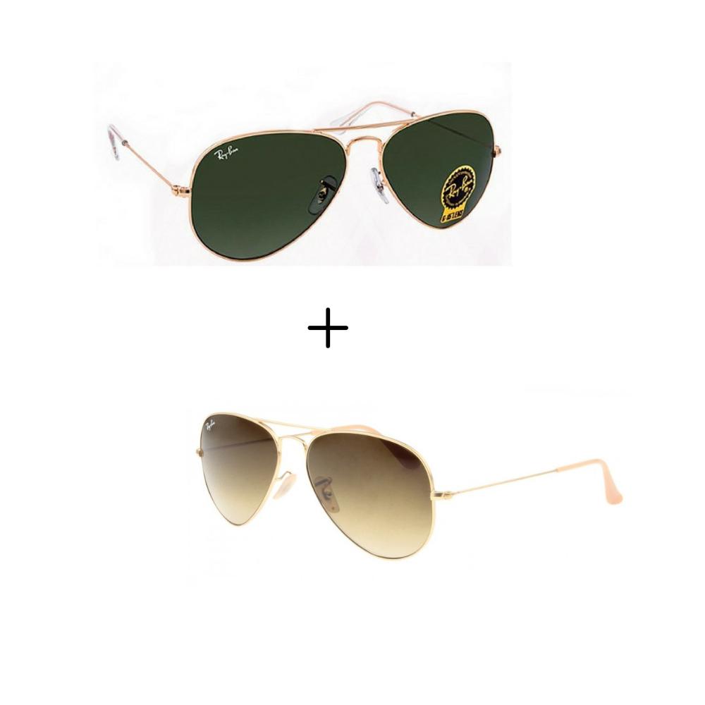 4cb8c4ef7 Kits 2 Oculos De Sol Aviador Masculino Feminino Promoção | Feminino ...