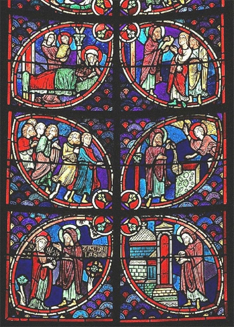 unknown artist stained glass 01 cath drale saint tienne de bourges bourges france 13th. Black Bedroom Furniture Sets. Home Design Ideas