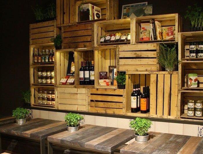 Diy Caisse Bois Boites A Vin En Bois Decoration Bar