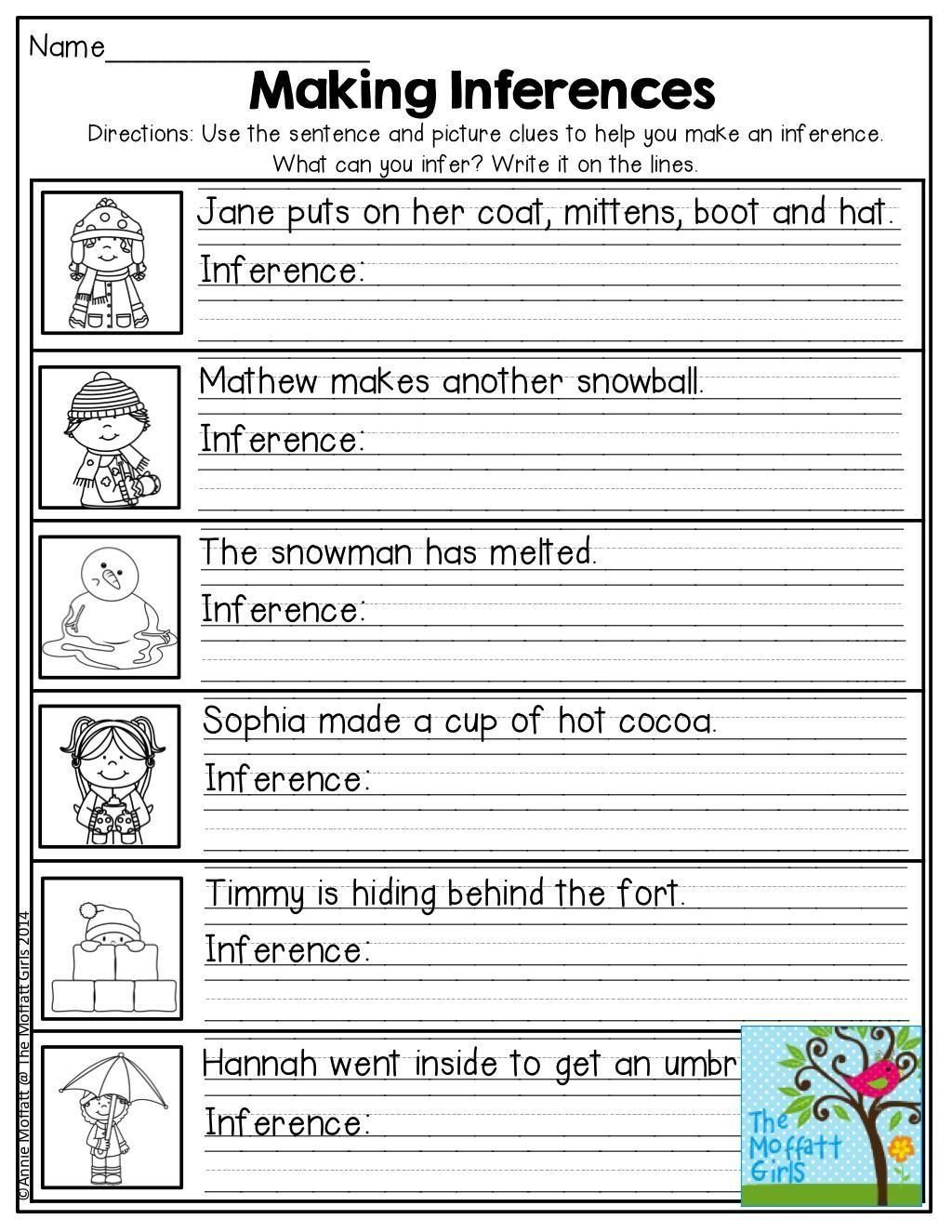 Making Inferences Worksheets 2nd Grade Worksheet Free