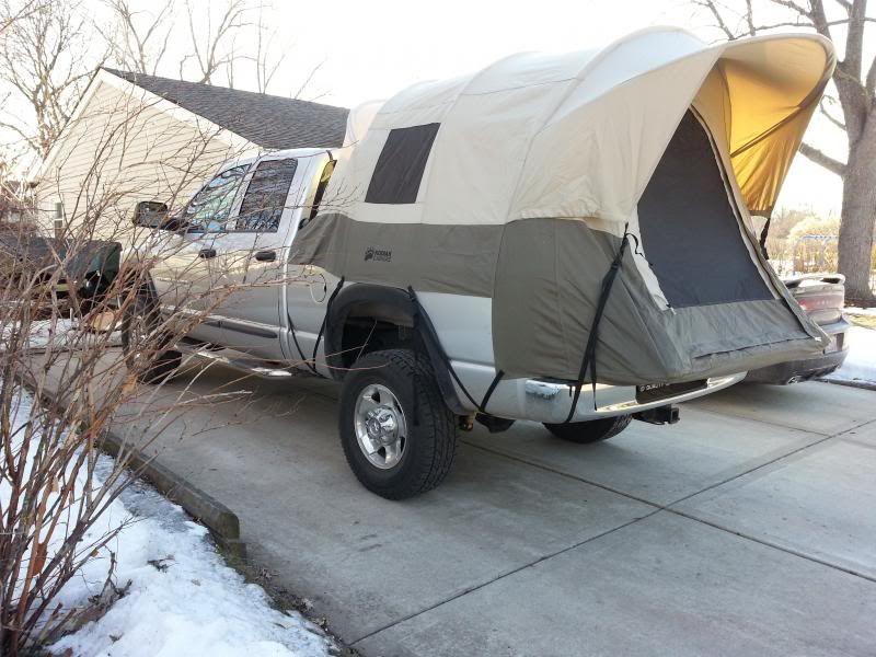 Roof top tent · Kodiak canvas truck tent on a Dodge Power Wagon. & Kodiak canvas truck tent on a Dodge Power Wagon. | Truck Camping ...