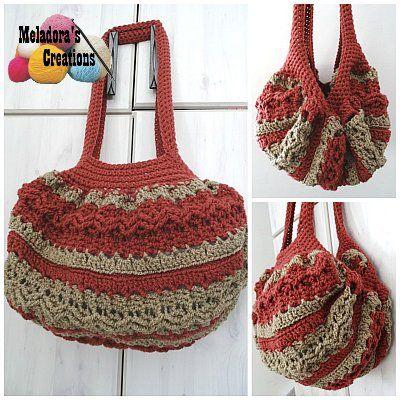 Celtic Weave Strip Hobo Bag Free Crochet Pattern Crochet Bags