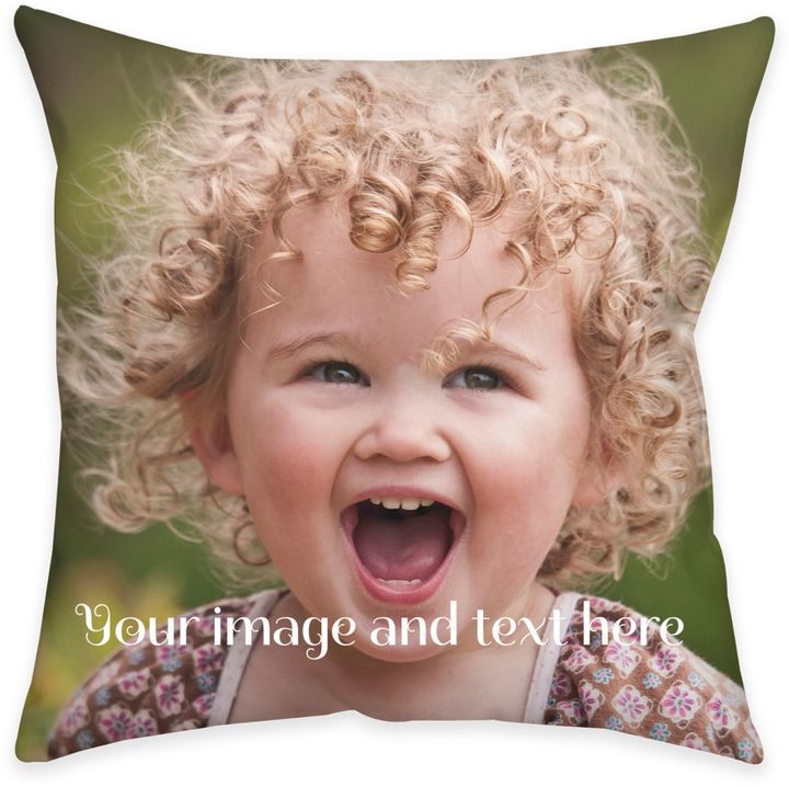 Square Dual Sided Photo Burlap Throw Pillow Design your very own keepsake pillow in rustic burlap. You can personalize this stylish Burlap Throw Pillow with your own image and text on each side. Stylish and comfy, this pillow features a hidden zipper and plush insert.