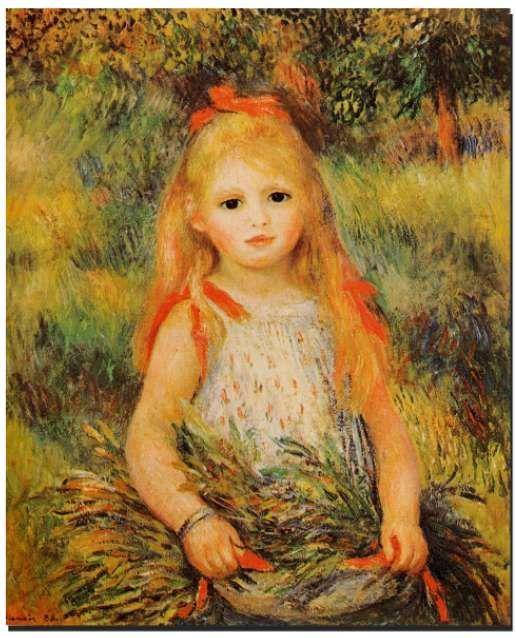 Petite fille à la gerbe (1888) Musée d'Art, Sao Paulo