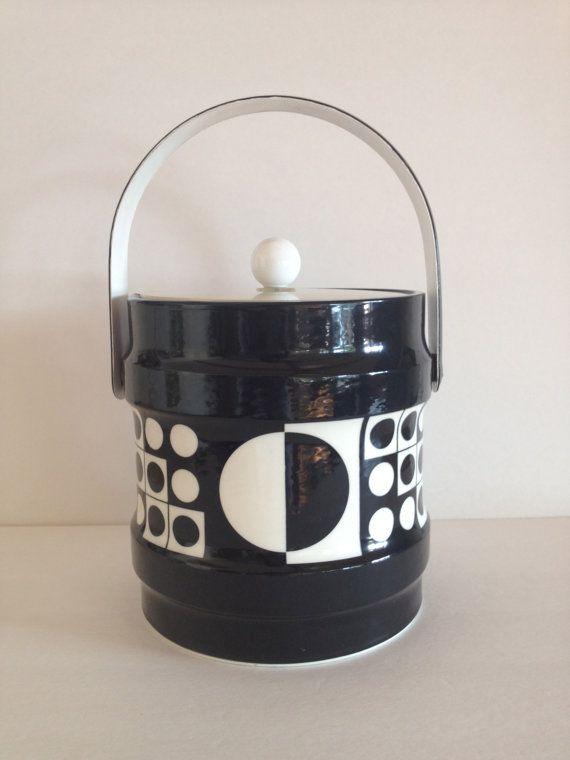 Retro Op Art Ice Bucket