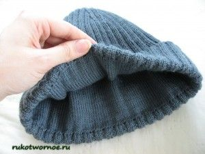 мужская шапка спицами мастер класс3 Knitt 9 головные уборы
