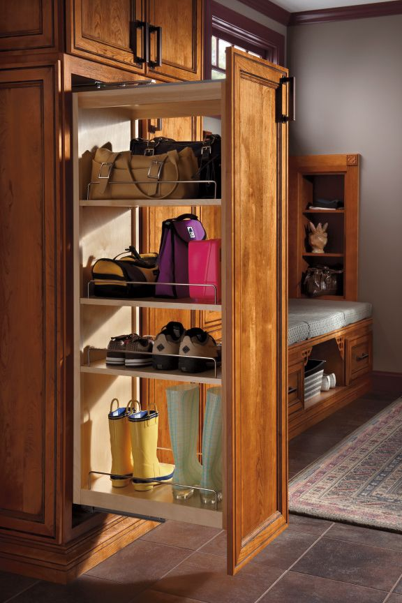 Schrock S Tall Pantry Pullout Is A Perfect Cabinet To Store Everyday Items Like Purses Shoe Pantry Cabinet Tall Kitchen Pantry Cabinet Kitchen Pantry Cabinets