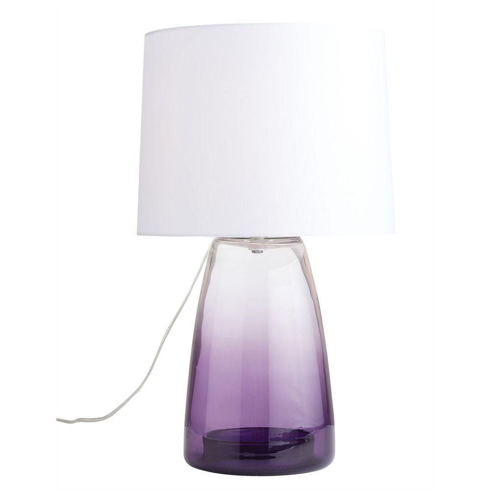 Captivating Purple Glass Table Lamp Photo 8 1,000×1,000