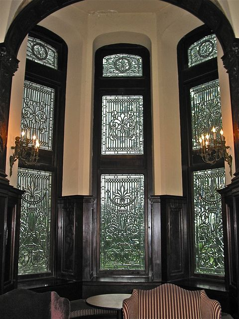 Grey Towers Castle 1893 Stained Glass Tower Windows Leaded