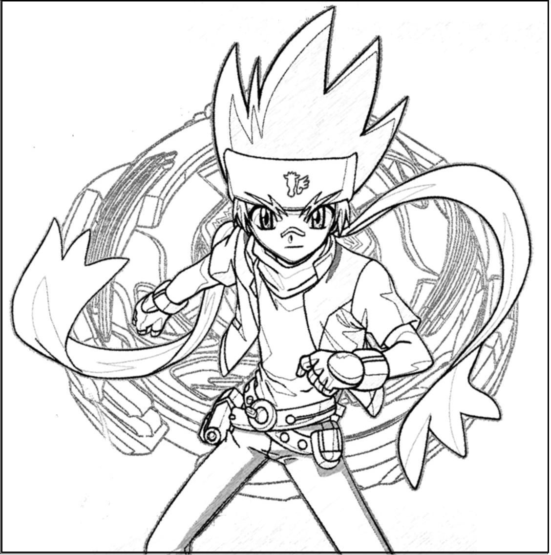 Free Printable Beyblade Coloring Pages For Kids | Pinterest