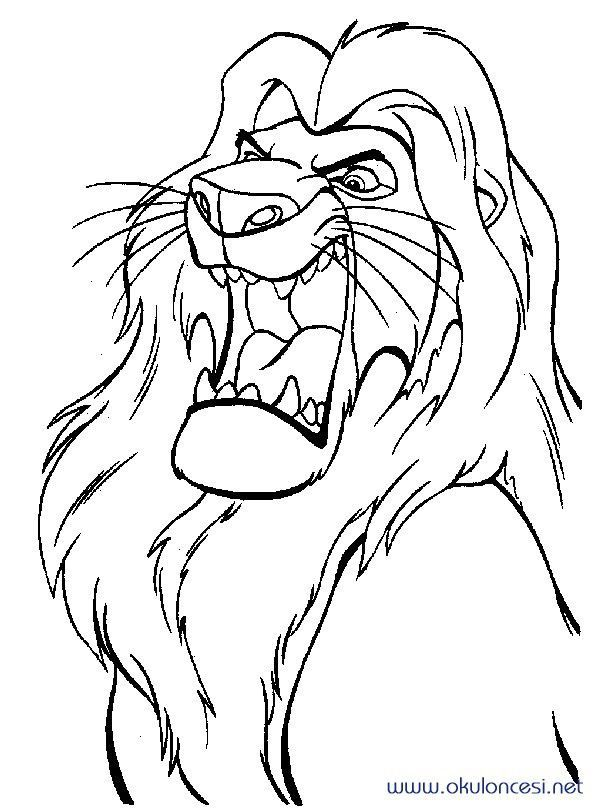 Aslan Kral 43 Aslan Kral Hayvan Boyama Sayfalari Boyama