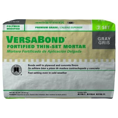 Custom Building Products VersaBond Gray 50 lb  Fortified Thin Set Mortar MTSG50  at. Custom Building Products VersaBond Gray 50 lb  Fortified Thin Set