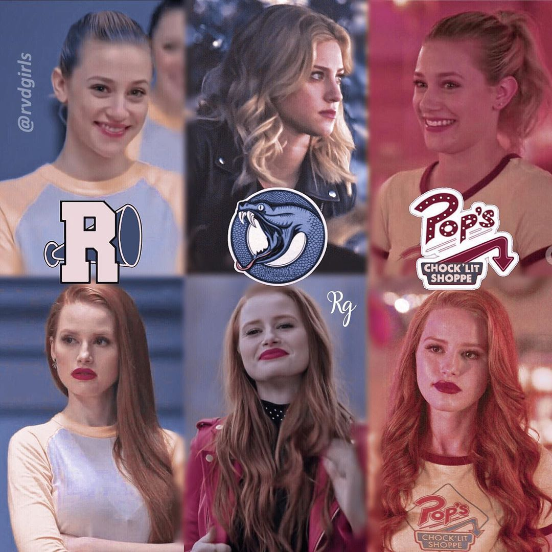 """𝑅iverdale 𝒢irls ❁ [30K] on Instagram: """"Cheryl and Betty x outfits/occupations ♡ ↬ Riverdale quiz in bio! -❁- Serpents 🐍, Vixens 💃🏼 or Pop's 🥤?"""""""