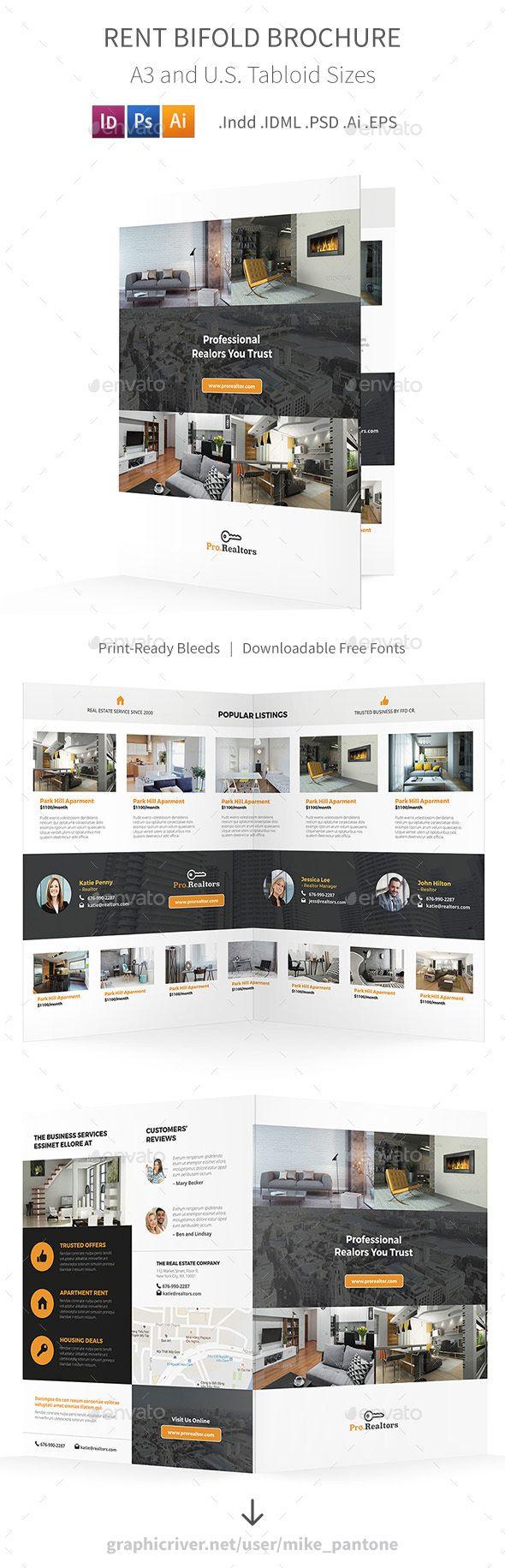 Rent Bifold / Halffold Brochure - Informational #Brochures Download here: https://graphicriver.net/item/rent-bifold-halffold-brochure/19241114?ref=alena994