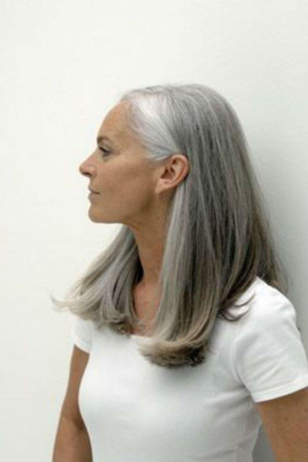 26++ Coiffure cheveux gris des idees