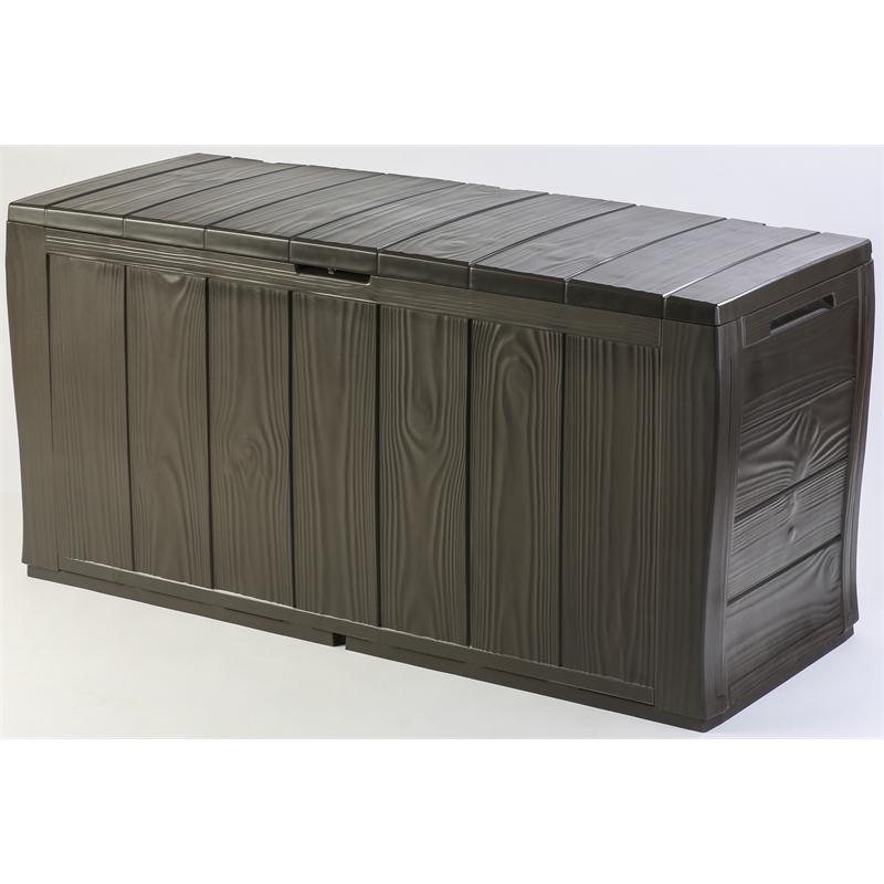 Keter 270l Outdoor Storage Box Bunnings Warehouse Patio Storage Box Plastic Garden Storage Box Patio Storage