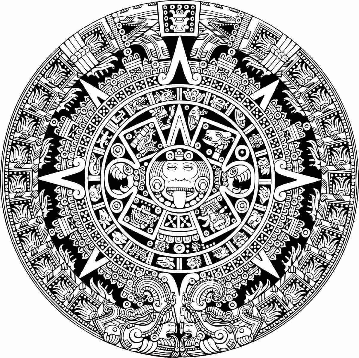 N Calendar Art History : Vector maya azteca calendario vectores corte vinil