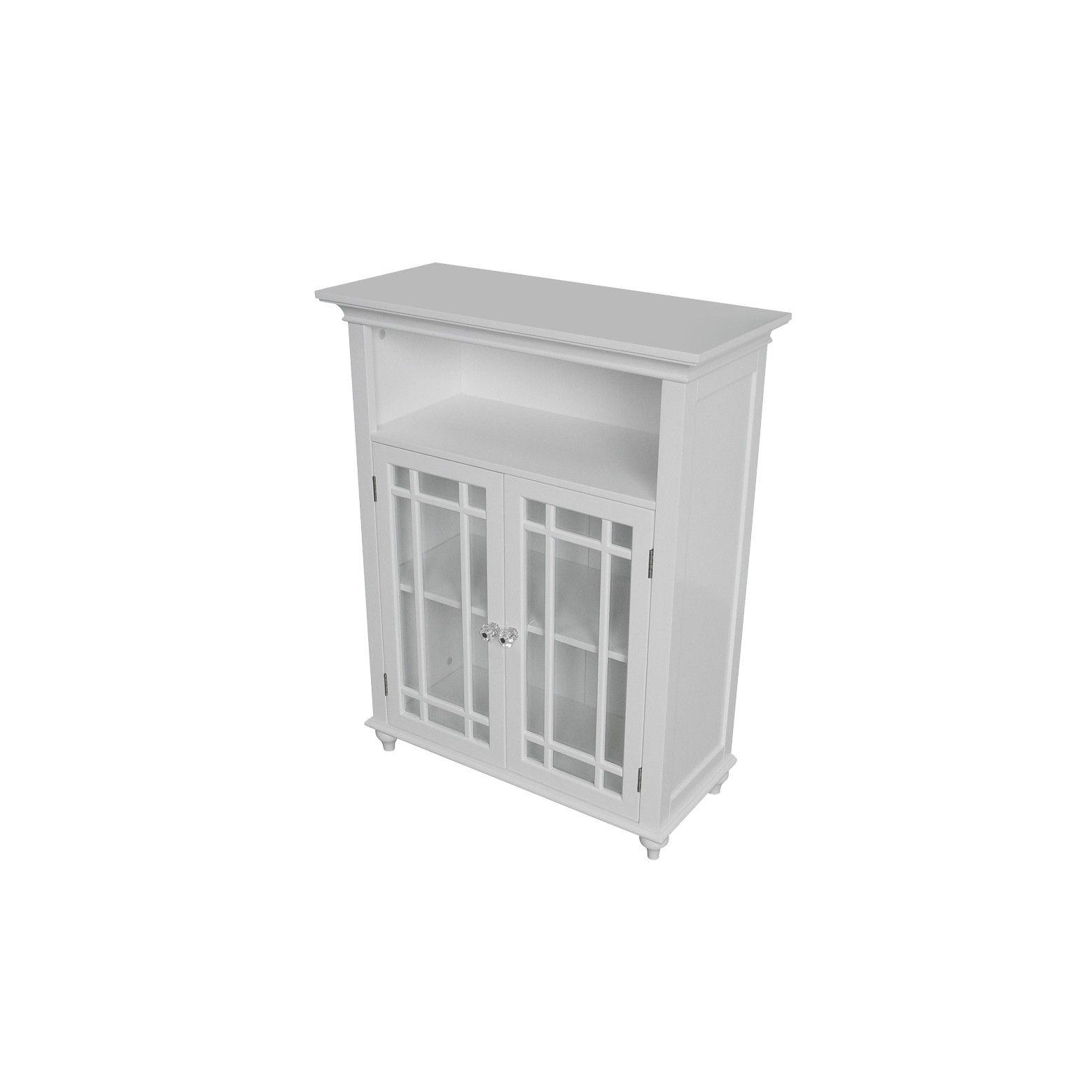 The Elegant Home Fashions Neal 2 Door Floor Cabinet White Lets You Add Some Extra Storage Space In Your Home With Two Doors For Stori Bathroom Floor Cabinets Bathroom Furniture Storage Cabinets