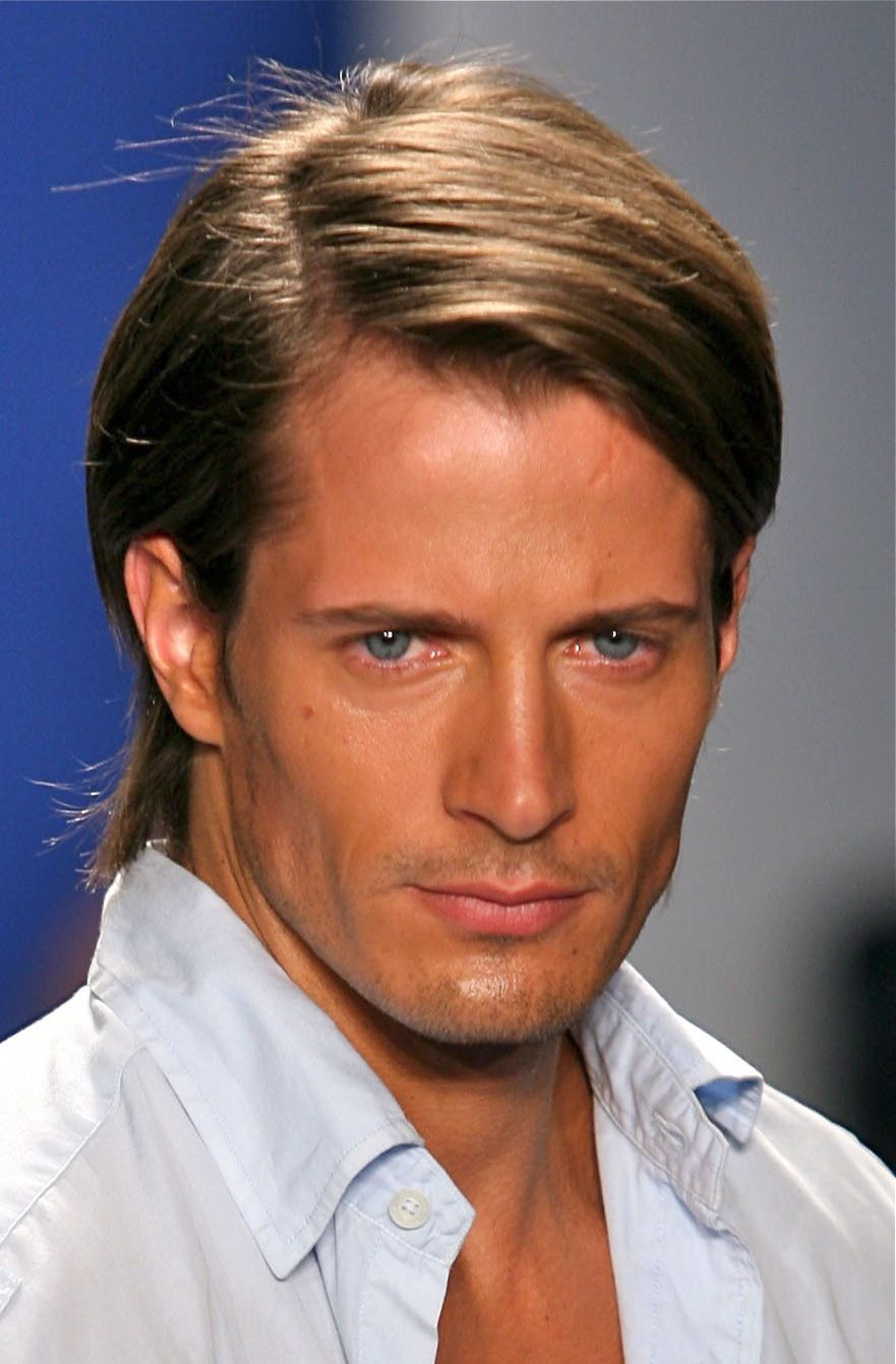 Haircuts for round faces men nice long parted hairstyle  stylendesigns  hair styles