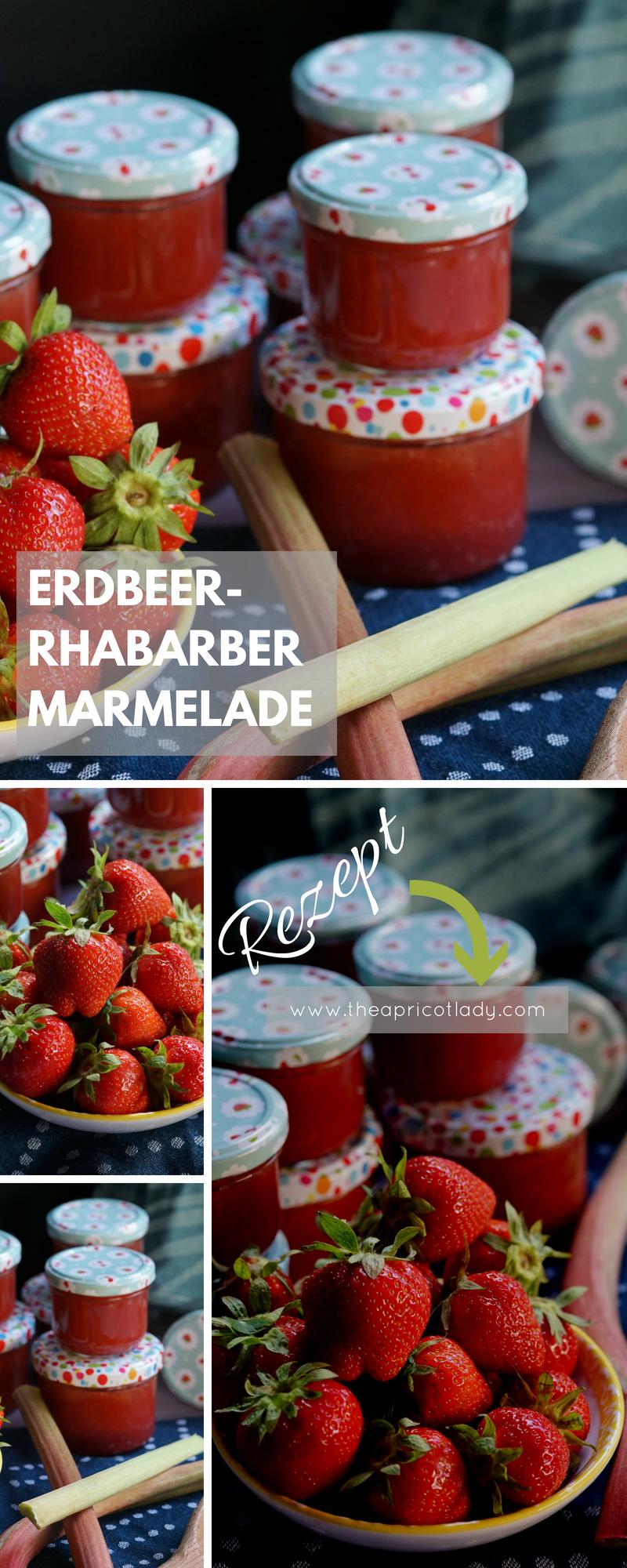 Erdbeer-Rhabarber Marmelade - The Apricot Lady