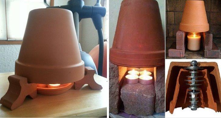chauffage alternative 2 pots en terre cuite 2 bougies et quelques centimes par jour a tester. Black Bedroom Furniture Sets. Home Design Ideas