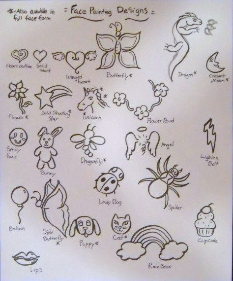 Printable Face Painting Designs | Face painting designs by ...