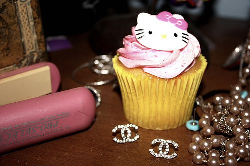 #hellokitty #cupcake #pink