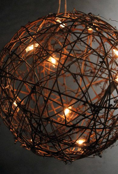 Decorative Ball Lights 9 Grapevine Ball With Lights Plug In  Wedding Wishes  Pinterest