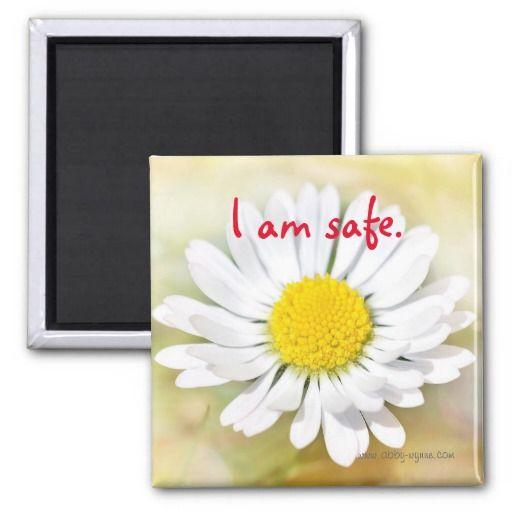 Abby Wynne Collection: I am safe. Magnet http://www.zazzle.com/abby_wynne_collection_i_am_safe_magnet-147981166354767196?rf=238937033046134636 #inspiration #motivation #meditation #yoga #spirituality #safe #healing #abbywynne