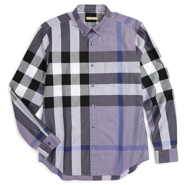 Burberry Brit  Fred  Trim Fit Sport Shirt ( 295) ❤ liked on Polyvore 0e3c7a29dcd8
