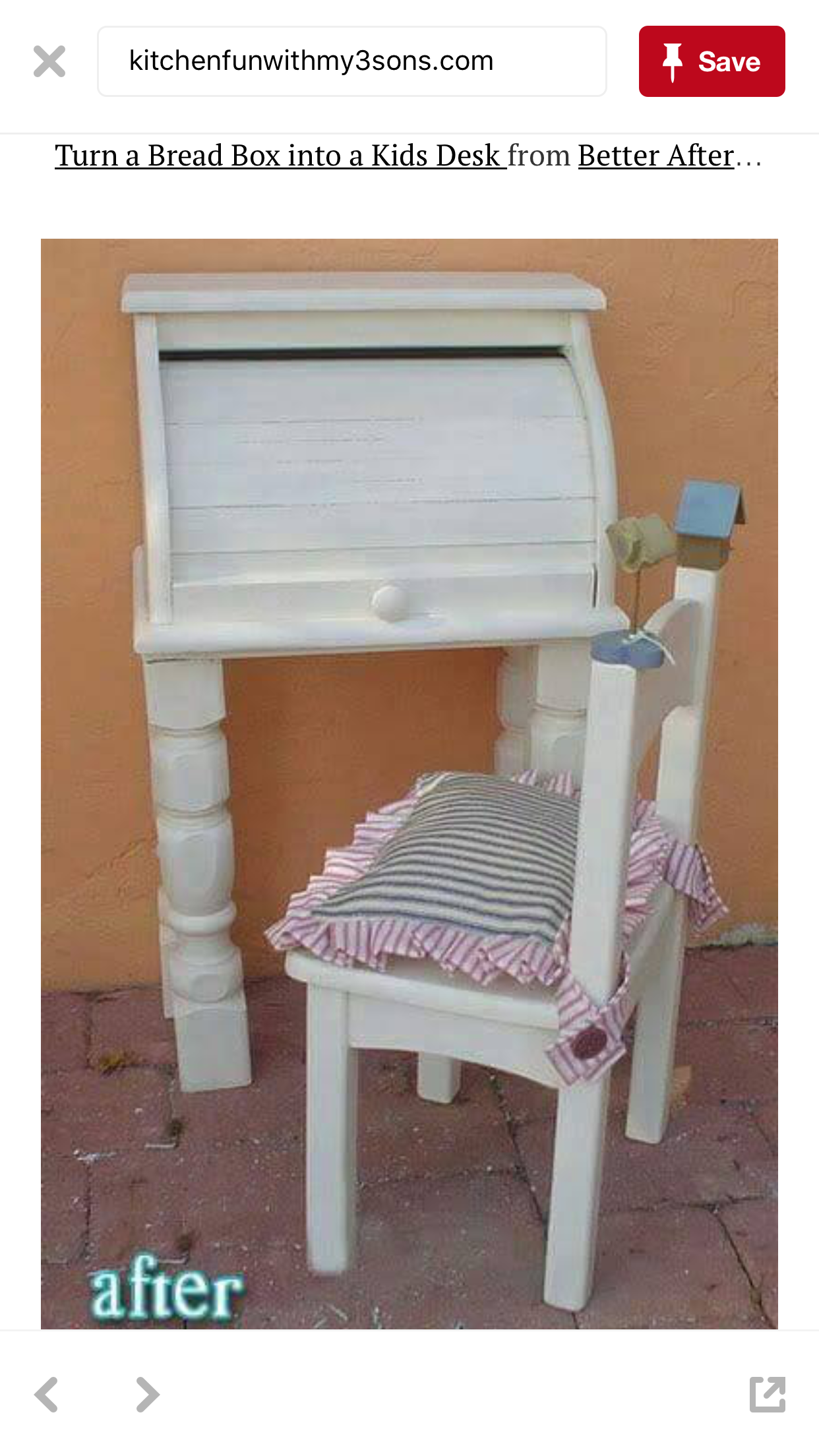 repurposed furniture for kids. A Little Kid Desk Made From An Old Bread Box! Got Me Thinking You Could Maybe Stack The Bins On Top Each Other, Good For Craft Storage Maybe? Repurposed Furniture Kids K