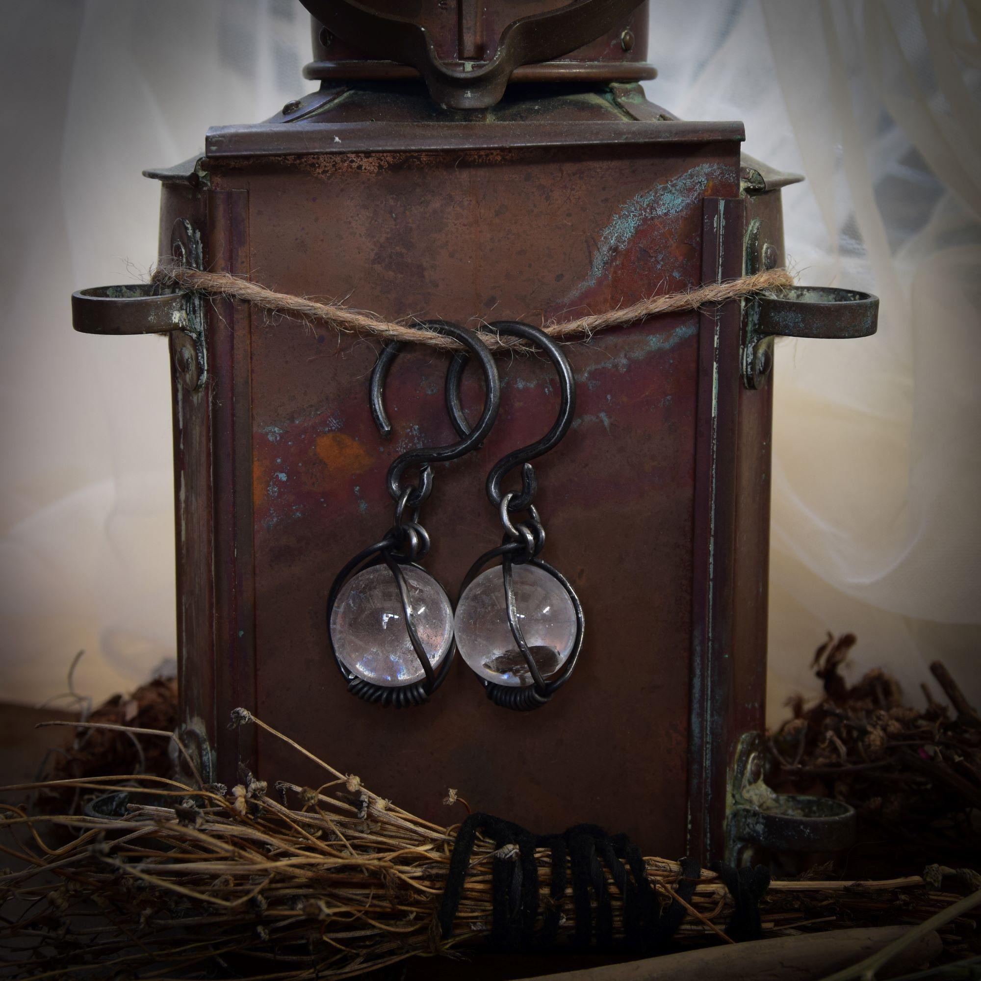 10g Raw Tourmaline Ear Weights *earrings for tunnels *pagan jewelry *witch jewelry *witch jewelry *raw stone ear hangers *hoops for tunnels