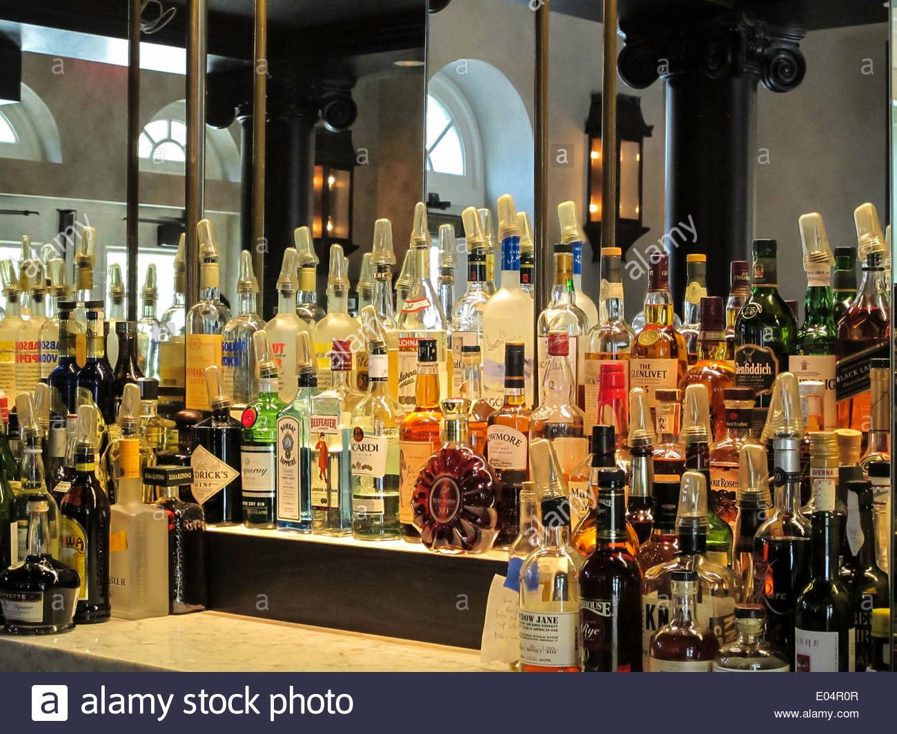 mirrors could make the liquor display look badass and also make the front bar area look more