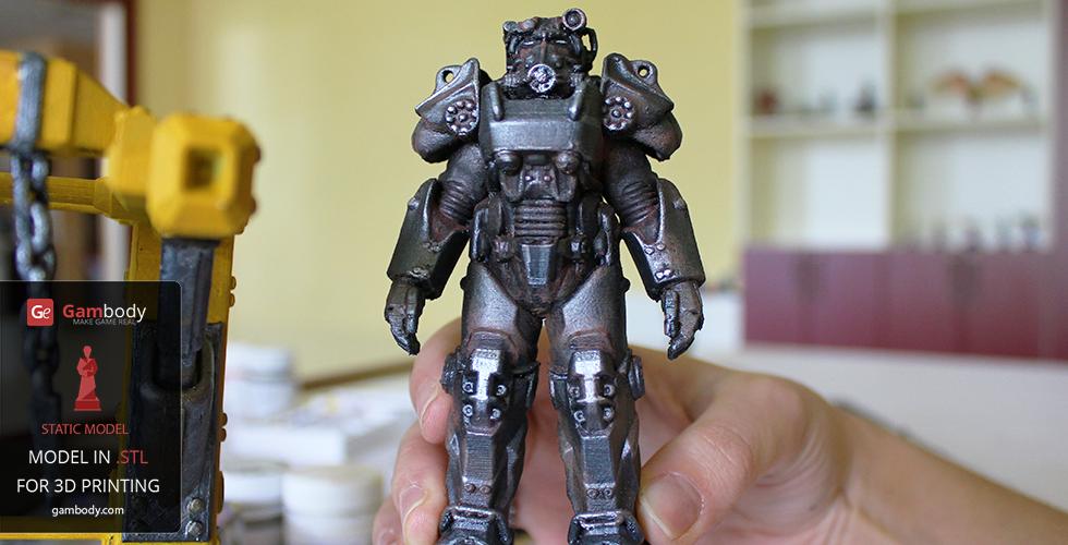 T-60 Power Armor 3D Model | Static Figure | 3D Printing | T