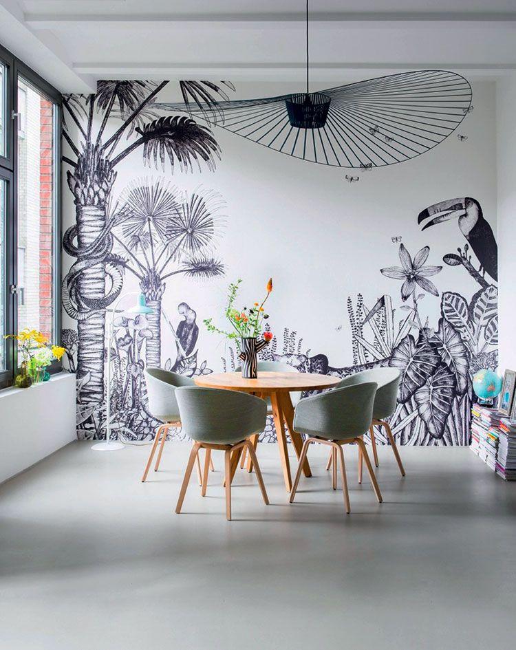 Decor Panoramique The Wild De Bien Fait Disponible Chez Au Fil Des Couleurs Papierpeint Wallpaper Wallcoverings Papier Peint Deco Decoration Interieure