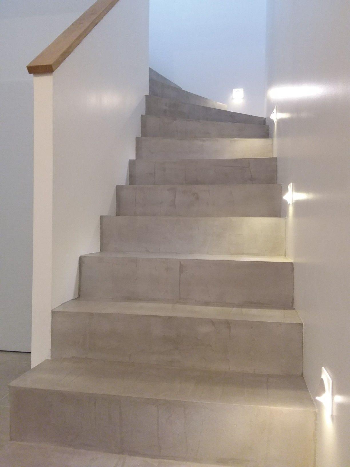Escalier Beton Deco Leroy Merlin Resinence Escalier Beton Cire Treppe Haus Treppe Renovieren Treppenrenovierung